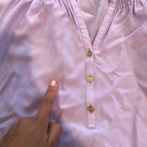 Lilly Pulitzer Tops - Lilly Pulitzer violet silk dress shirt size large